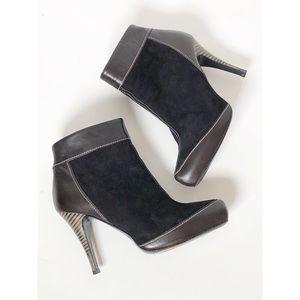 Claudia Ciuti Italy suede leather booties sz 6